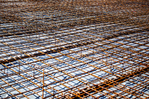 Bodenplatte bereit zum betonieren